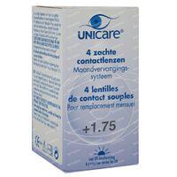 Unicare Weiche Monatslinsen +1,75 4 st