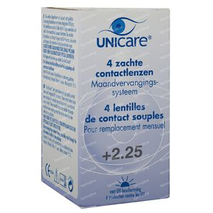 Unicare Soft Monthly Lenses +2,25 4 St