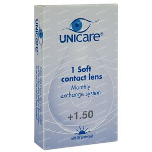 Unicare Soft Monthly Lenses +1,50 1 pezzo