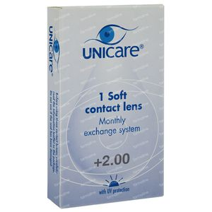 Unicare Soft Monthly Lenses +2,00 1 St