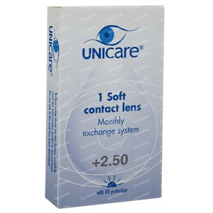 Unicare Soft Monthly Lenses +2,50 1 St