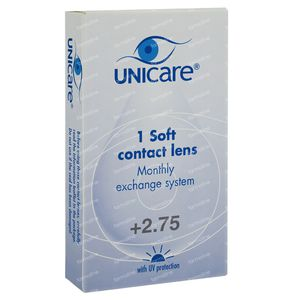 Unicare Souple Lentilles Mensuelles +2,75 1 pièce