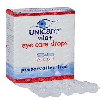 Unicare Vita+ Eye Care Drops 20x0.35 ml