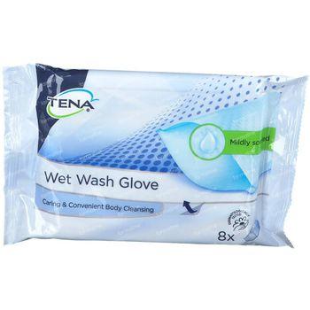 TENA Wet Wash Gloves 8 pièces