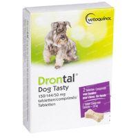 Drontal® Dog Tasty 150/144/50mg 2  comprimés