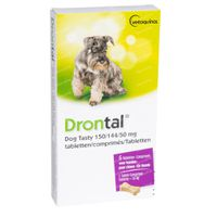 Drontal® Dog Tasty 150/144/50mg 6  tabletten