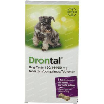 Drontal® Dog Tasty 150/144/50mg 6 comprimés