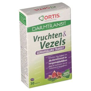 Ortis Fruits + Fibres Transit 30 stuks Tablets