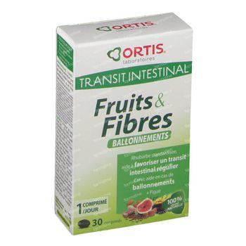 Ortis Fruits & Fibre Ballonnements 30 comprimés