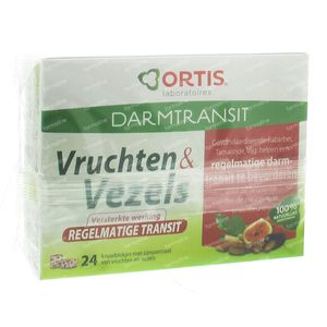 Ortis Fruits & Fibers Regular Transit Cubes 24 chewing tablets