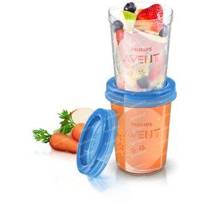 Avent Via Natural Set Storage Cup 240ml 240 ml