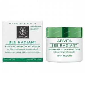 Apivita Bee Radiant Age Defense Illuminating Cream - Light Texture 50 ml