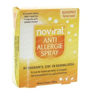 Noviral Anti-Allergie Spray 500mg 500 st