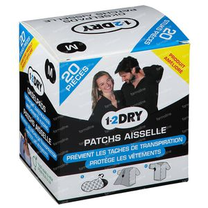 1-2DRY Patches Aiselle Dark Medium P2-BX-MD 20 pièces