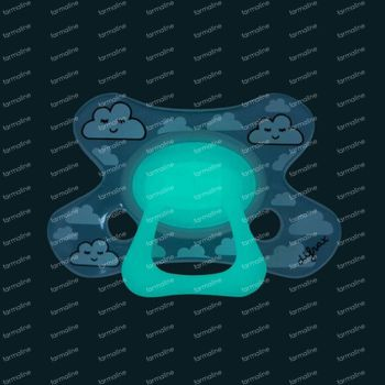 Difrax Sucette Sleepy Isha Dental Glow in the Dark 18 Moins+ 1 pièce
