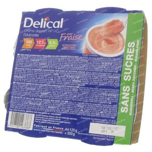 Delical Crem Dessert Hp-Hc Strawberry Without Sugar 500 g