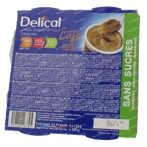 Delical Crem Dessert Hp Hc Without Sugar Coffee 500 g