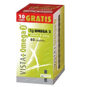 Vista Omega 3 + 10 Caps Gratuit 60 St capsules