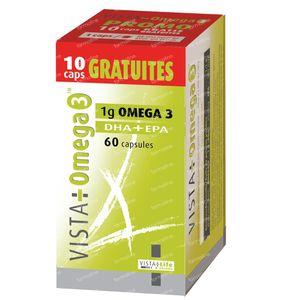 Vista Omega 3 + Gratis 10 Caps 60 St capsules