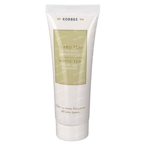 Korres white tea facial fluid gel cleanser