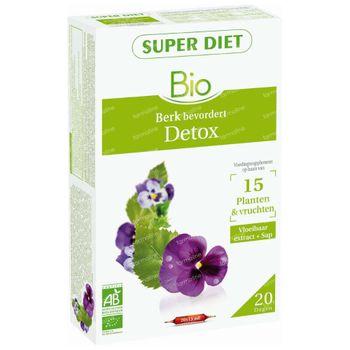 Superdiet Complexe Detox 15 Plantes et Fruits Bio 20x15 ml