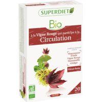 Superdiet Complexe Circulation Vigne Rouge - Ginkgo - Hamamélis - Marronnier d'Inde Bio 20x15 ml