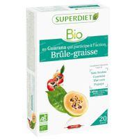 Superdiet Complexe Brûle Graisse Guarana - Thé Vert - Papaye - Son d'Avoine Bio 20x15 ml