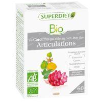 Superdiet Complexe Articulations Curcuma - Cassis - Harpagophytum - Ortie Bio 60  capsules