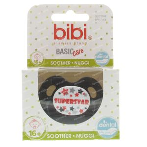 Bibi Pacifier Superstar Grey +16m 1 pezzi