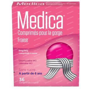 Medica Comprimé Pour Gorge Fraise 36 comprimés
