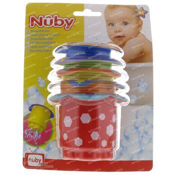 Nûby Gobelets à Empiler Bain 6+ Moins 5 pièces