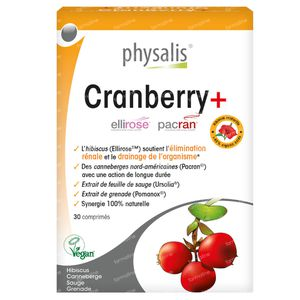Physalis Cranberry+ 30 comprimés