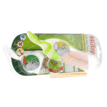 Nuby Squeeze Feeder + Cuillère XS/S +6m 120 ml