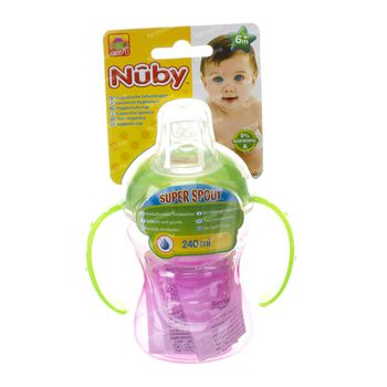 Nuby Gobelet Easygrip Anti-Fuites +6m 240 ml