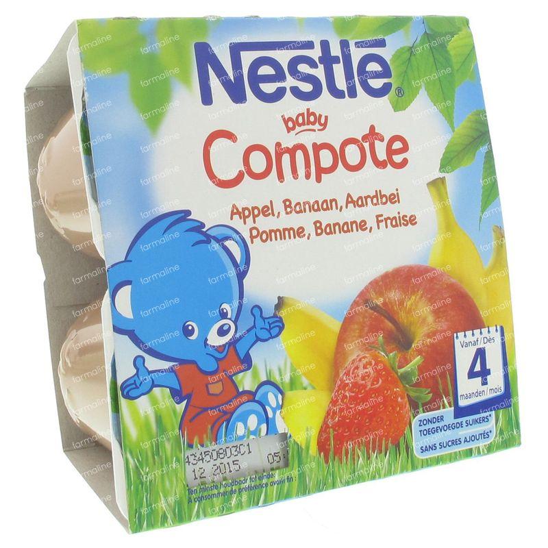 0101e803ba935 Nestle Baby Compote Pomme Banane Fraise 400 g commander ici en ligne ...