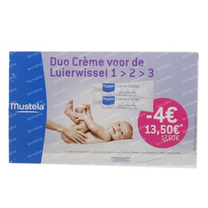 Mustela 1-2-3 Vitamin Barrier Cream Duopack Reduced Price 200 ml