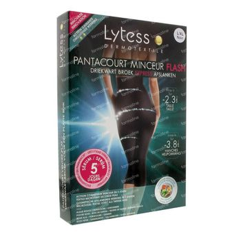 Lytess Flash Pantacourt Ventre Plat 5 Jours Minceur L/XL Noir 1 st
