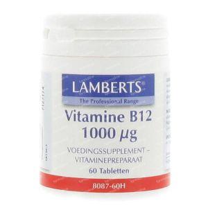 Vitamine B12 Lamberts 1000mcg 60 comprimés