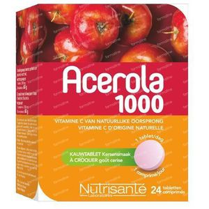 Nutrisanté Acerola 1000mg 24 St Compresse masticabili