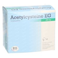 Acetylcysteïne EG  600mg 60  zakjes