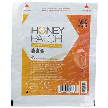 Honeypatch Mini Moist Genezende Honing 5x5cm 1 stuk