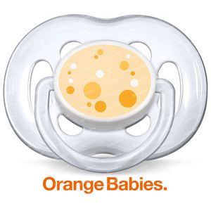 Avent Pacifier Orange 6-18 m Baby 2 pieces
