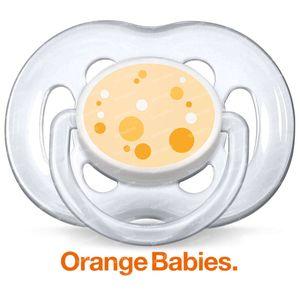 Avent Sucette Orange 6-18 m Bébé 2 pièces