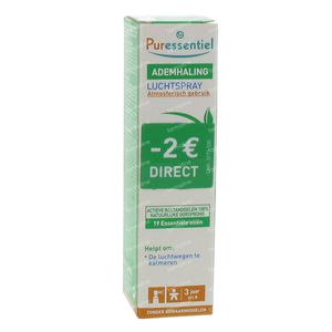 Puressentiel Ademhaling Luchtspray 19 Essentiële Oliën PROMO 20 ml spray