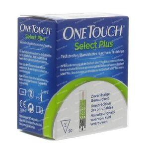 One Touch Select Plus Tiras Reactivas 50 unidades
