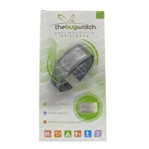 Bug Watch Bracelet Anti-Mosquito Midnight Grey 1 pezzo
