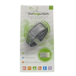 Bug Watch Bracelet Anti-Moustique Midnight Grey 1 St