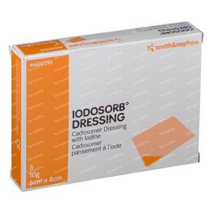 Iodosorb Pansement 6x8cm 5 pièces