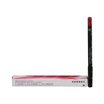 Korres Crayon à Lèvres Huile De Coton 03 Rougge 1 st
