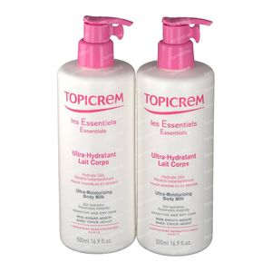 Topicrem Liberty Lait Corporel Ultra Hydratant Duo Édition Limitée 2x500 ml